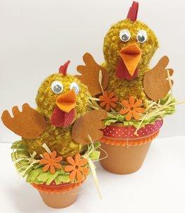 D.I.Y. Pakket kippen op pot