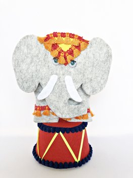 DIY Pakket Circus Olifant Vilt