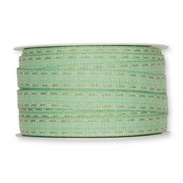 Stiksel band mint groen 12  mm breed per meter