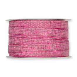 Stiksel band roze 12  mm breed per meter