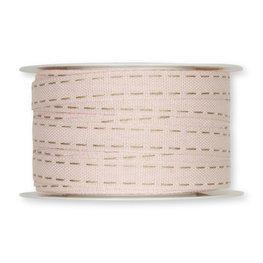 Stiksel band creme 12  mm breed per meter