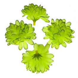 Stoffen kunst chrysant fel groen 5 cm doorsnee per stuk