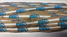 Busjes band blauw 18 mm breed per meter