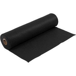Zwart, 45 cm x 5 meter