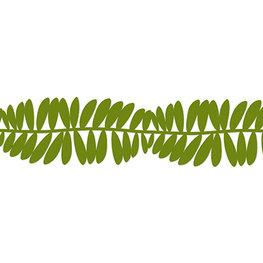 Vilt guirlande 'Leaves' Gras Groen, 15 cm x 1,65 meter