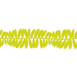 Vilt guirlande 'Leaves' Fel Groen, 15 cm x 1,65 meter