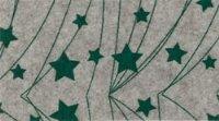 Vilt lapje met kerst print gemeleerd beige ster lijn 30 x 40 cm per lapje