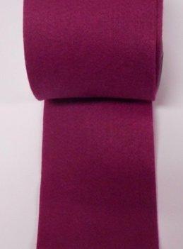 Vilt band 10 cm breed paars roze per meter