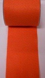 Vilt band 10 cm breed oranje per meter