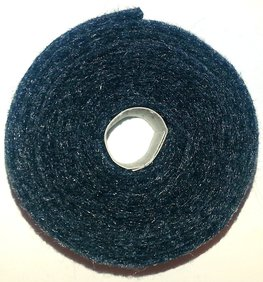 Vilt band op rol 4 cm breed 1,5 meter lang gemeleerd zwart