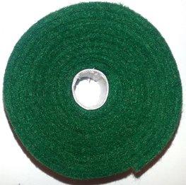 Vilt band op rol 4 cm breed 1,5 meter lang dennengroen
