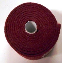 Vilt band op rol 4 cm breed 1,5 meter lang bordeaux