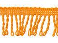 Franje band gedraais oranje 32 mm breed, per meter