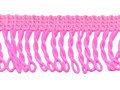 Franje band gedraaid fel roze 32 mm breed, per meter