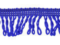 Franje band gedraaid kobalt blauw 32 mm breed, per meter