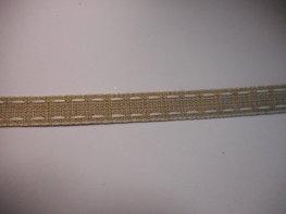 Stiksel band creme wit per meter