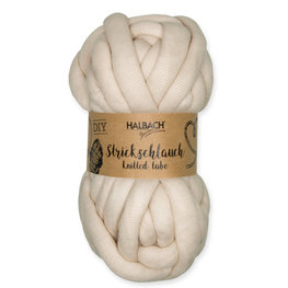 Knitted Tubes, Off White, 100gram