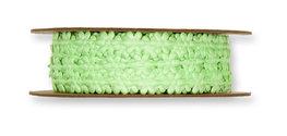 Satijnen Mini Bloemetjesband, Groen, per rol