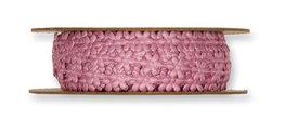 Satijnen Mini Bloemetjesband,Oud Roze, per rol