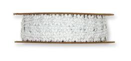 Satijnen Mini Bloemetjesband, Wit, per rol