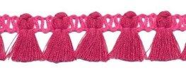 Kwastjesband felroze roze 15 mm breed per meter