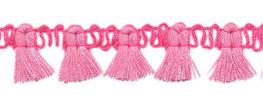 Kwastjesband roze felroze 15 mm breed per meter