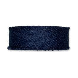 Jute band, Blauw, 5 cm x 20 meter op rol