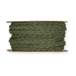 Leer Look Lint, 7 mm x 6 meter op rol, Donker Groen