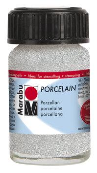 Marabu porseleinverf wit glitter 15 ml