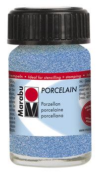 Marabu porseleinverf blauw glitter 15 ml