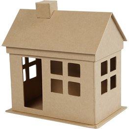 Huis papier marche hoogte 23 cm lengte 22,5 cm diepte 14,5 cm
