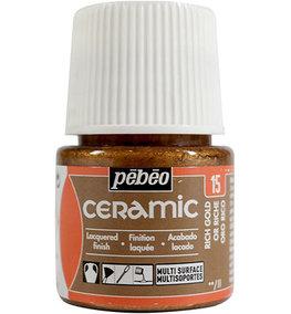 Pebeo Ceramic Rich Gold 45 ml