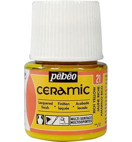 Pebeo Ceramic Rich Yellow 45 ml