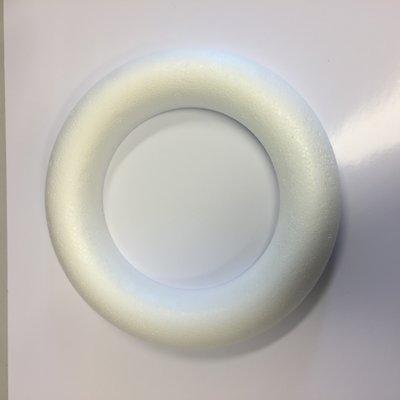 Piepschuim ring krans half plat 15 cm doorsnee