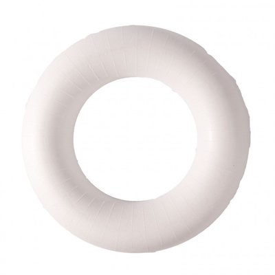 Piepschuim ring krans half plat 35 cm doorsnee