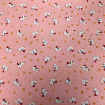 Vilt print eenhoorn roze
