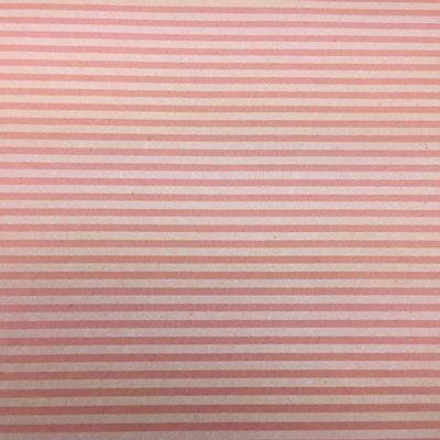 Vilt Print, Gestreept, Roze