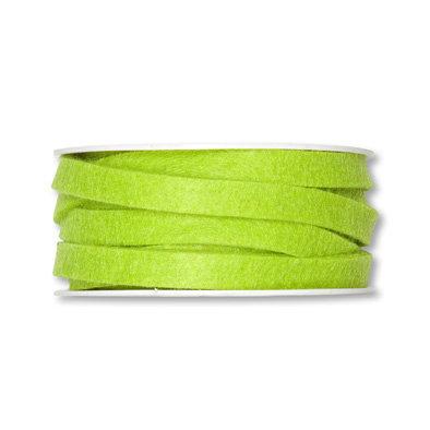 Vilt band 1 cm breed, Fel Groen, 5 meter op rol