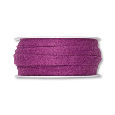 Vilt band 1 cm breed, Dusty Pink, 5 meter op rol