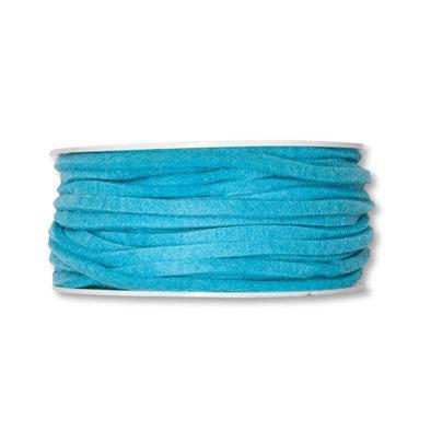 Vilt band 4 mm x 15 meter op rol, Aqua
