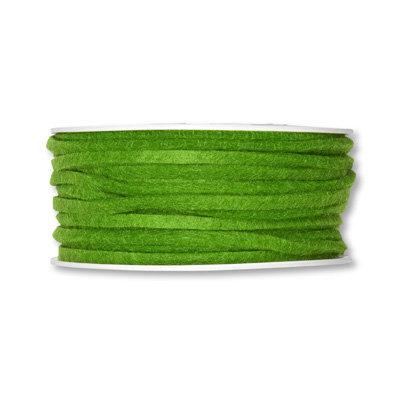 Vilt band 4 mm x 15 meter op rol, Groen
