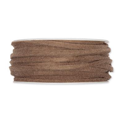 Vilt band 4 mm x 15 meter op rol, Mud Brown