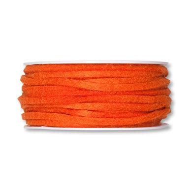 Vilt band 4mm x 15 meter op rol, Oranje