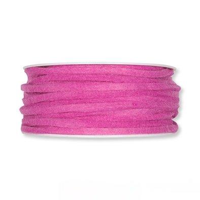 Vilt band 4 mm x 15 meter op rol, Roze