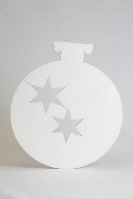 Kerstbal met sterren uitsparing, verschillende afmetingen