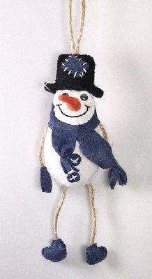 DIY pakket hanger Sneeuwpop Blauw