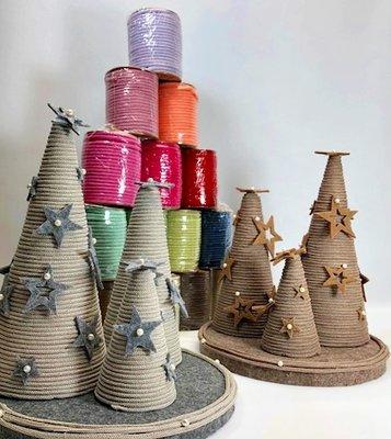 DIY pakket kerstboompjes bruin