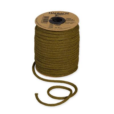 Knitted Paper Yarn Tubes, Olijf Groen, per rol