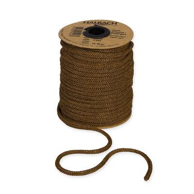 Knitted Paper Yarn Tubes, Donker Bruin, per rol