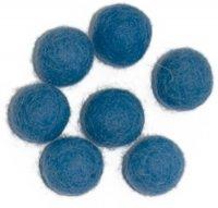 Vilt balletjes 15 mm, Blauw, 10 st.